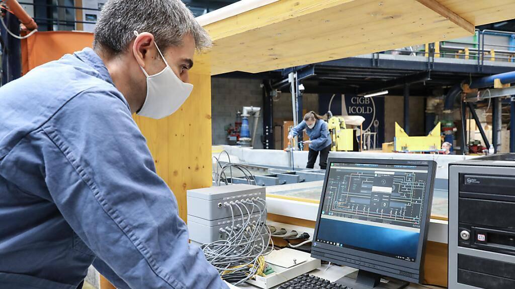 EPFL optimiert Flusskraftwerk Massongex-Bex bezüglich Ökologie