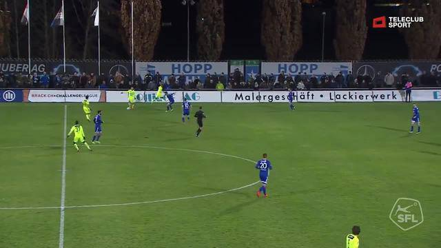 29' Tor für FC Aarau von Gianluca Frontino (Assist: Ivan Audino)