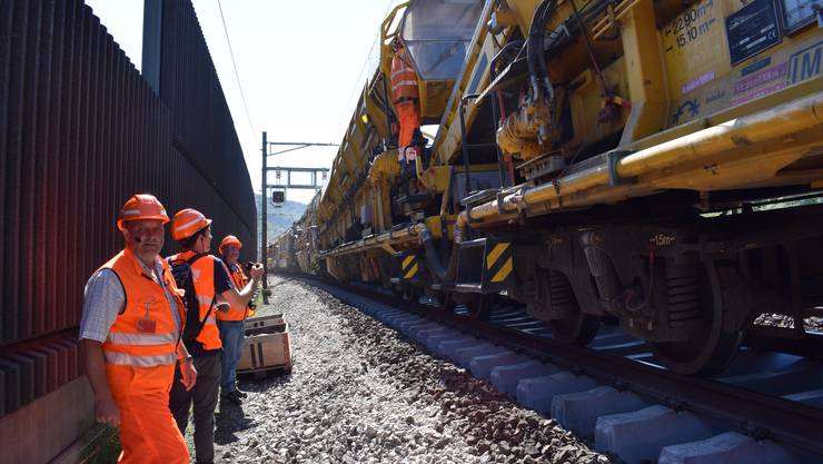 Rund 1,3 Kilometer lang ist der Zug inklusive Materialwagen.