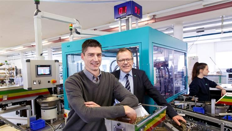 Thomas Ganz (l.) will als neuer CEO den Erfolg der Paro AG weiterführen. VR-Präsident und Inhaber Martin Frauenfelder legt die Strategie fest.