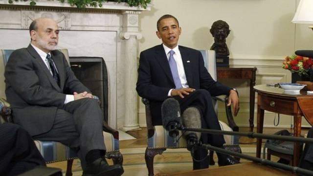Bernanke bei Obama im Weissen Haus