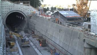 SBB-Baustelle: Eppenbergtunnel