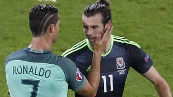 Die Umarmung zwischen Ronaldo und Bale.