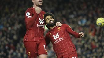 Jordan Henderson und Mohamed Salah sorgten mit ihren Toren für die Wende in der Partie zwischen Liverpool und Tottenham