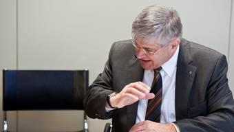 Da war er noch Bundesratskandidat der SVP: Bruno Zuppiger gestern Morgen um 7.30 Uhr beim Interview mit der az.   Alessandro della Valle / Key
