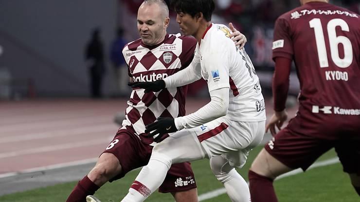 Auch mit 35 Jahren noch titelhungrig: Andres Iniesta gewann mit Vissel Kobe den spanischen Cup