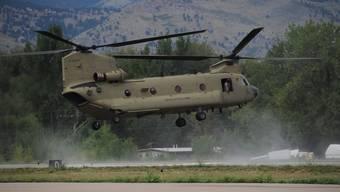 Sind Teil des Armee-Deals mit den Saudis: CH-47-Chinook-Helikopter der USA.