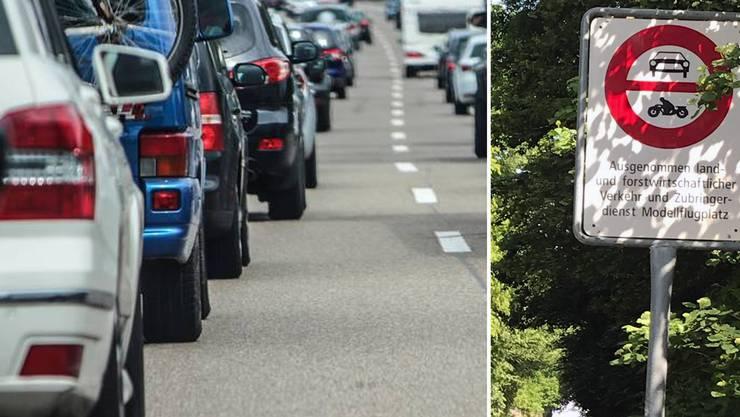 Mehrere Autofahrer wählten wegen des Staus eine Alternativroute – durch ein Fahrverbot.