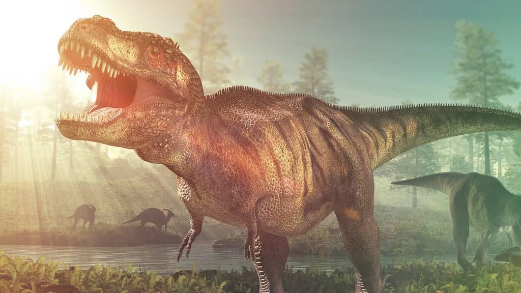 T. Rex brüllt im Naturhistorischen Museum Bern