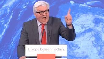 Kriegstreiber - das lässt sich Frank-Walter Steinmeier nicht gefallen.