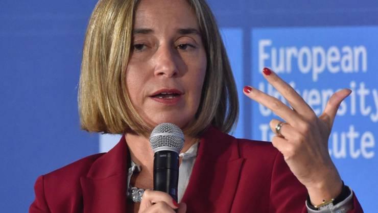 EU-Aussenbeauftragte Federica Mogherini zählt Gründe auf, wieso die USA weiterhin in UNO-Programme investieren sollen. (Archivbild)