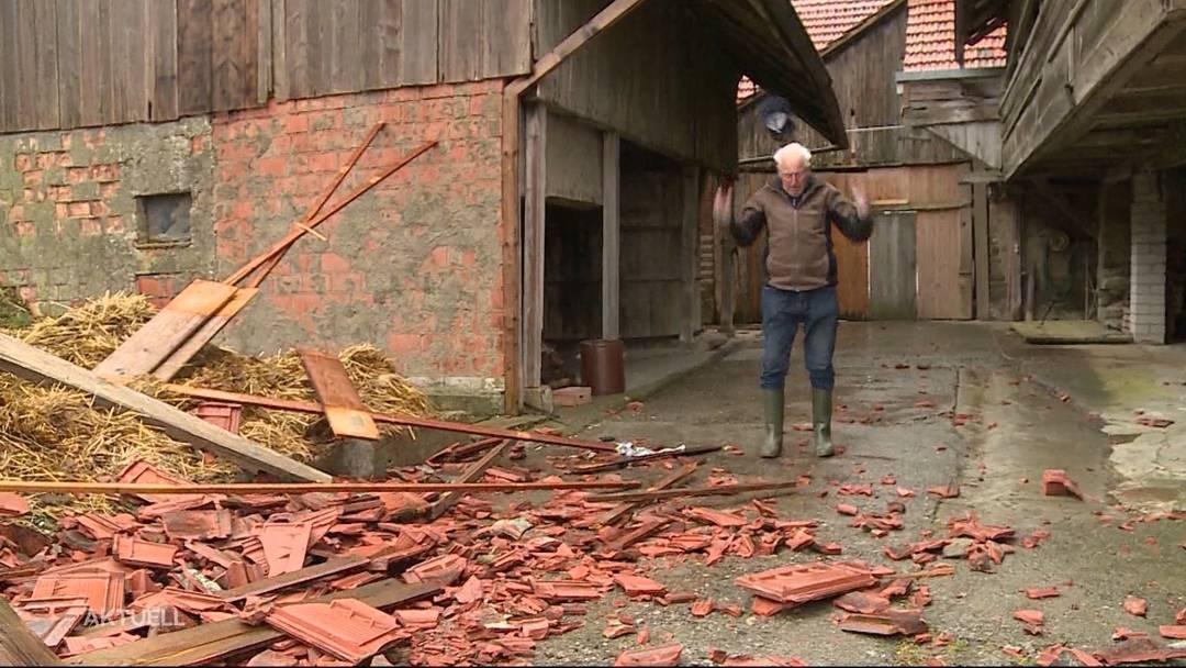 Über 40 Meldungen im Aargau wegen Sturmschäden (März 2019)