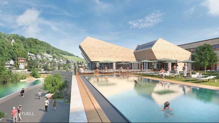 Visualisierung: So wird das Thermalbad in Baden aussehen.