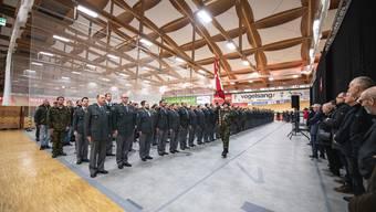 Entlassungsfeier für Wehrpflichtige im Velodrome Grenchen