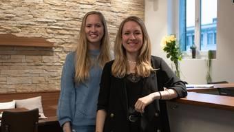 Tabea Glinz (links) und Finja Basan hoffen auf zahlreiche Besucher an ihrem «Wandelbar»-Festival.