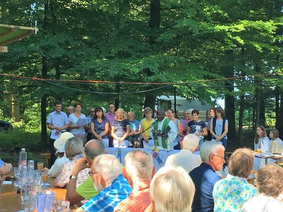 Waldgottesdienst mit Kirchenchor