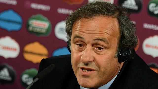 Ungemütliche Fragestunde: Michel Platini.keystone