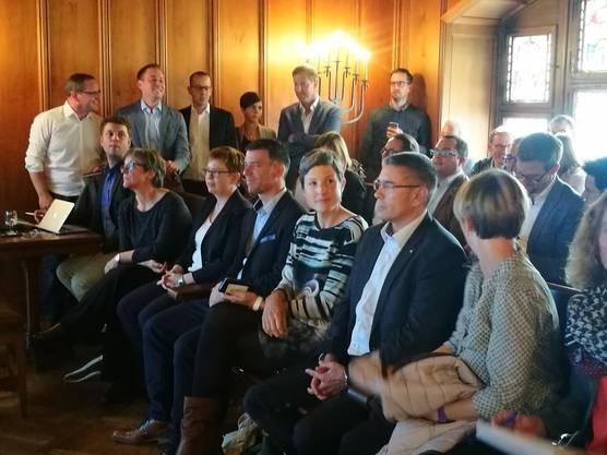 In den Stadtrat gewählt: Sandra Kohler (parteilos) und Markus Schneider (CVP)
