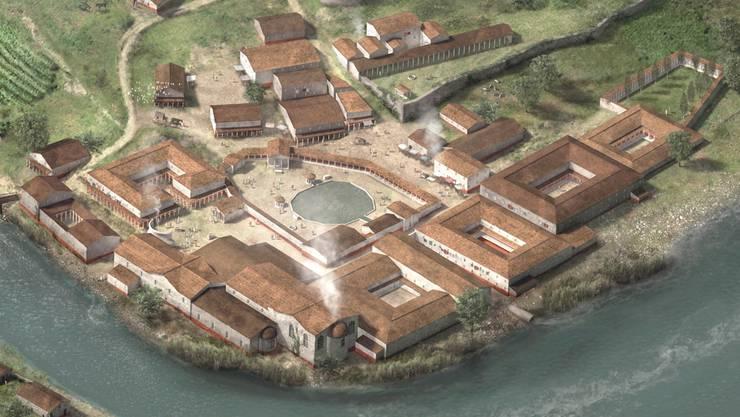 Eine Visualisierung der Bäder zur Römerzeit. zvg