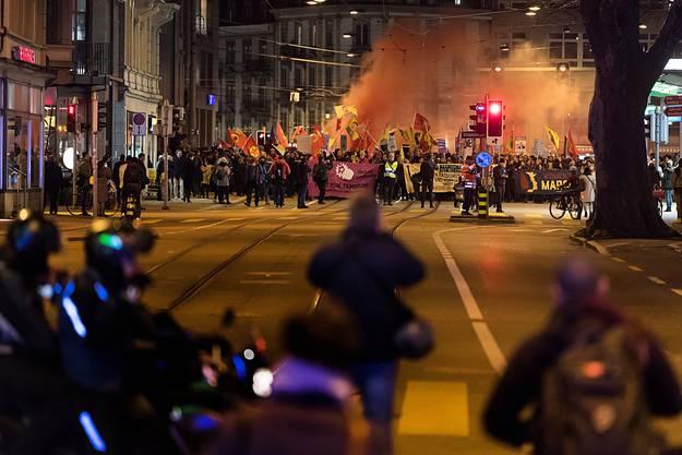 Die Anti-WEF-Demo in Zürich findet seit mehreren Jahren statt. (Archivbild, 2018)