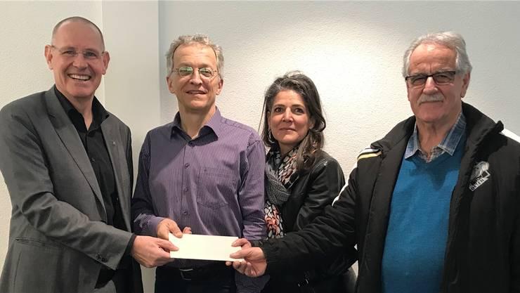 Von links: Stefan Nünlist, Stadtschreiber Markus Dietler, Yasmin Künzler und Albert Grimm.