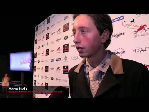 Interview  Martin Fuchs Gucci Paris Masters 2014