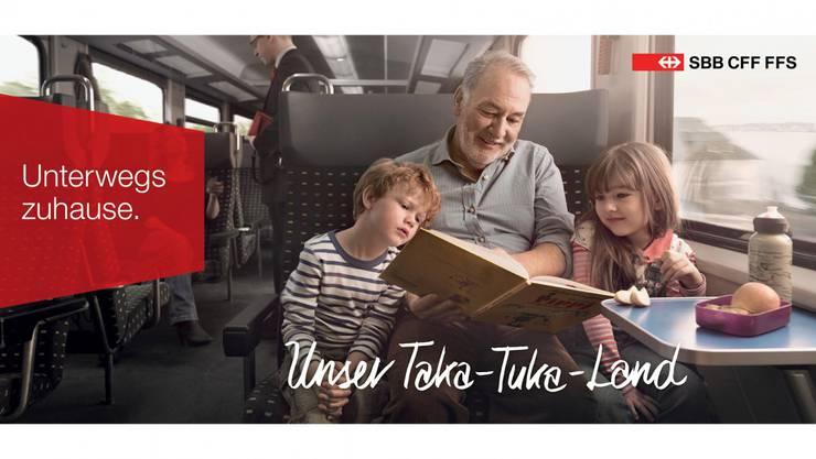 Plakat der SBB-Kampagne «Unterwegs zuhause».