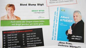 So präsentieren sich die Solothurner Fasnachtszeitungen Hudibras, Amzblatt und Postheiri