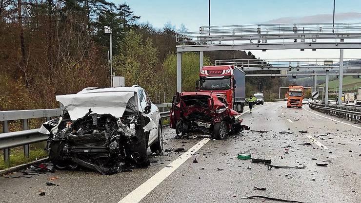 So präsentierte sich die Situation nach dem Unfall.
