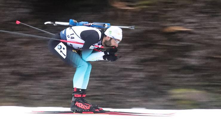 Martin Fourcade rast der Konkurrenz davon.
