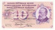 1956: Diese Note zeigt Gottfried Keller.