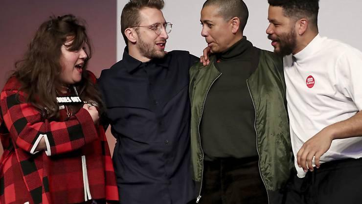 Gewannen den renommierten britischen Turner-Kunstpreis: (von links) Tai Shani, Lawrence Abu Hamdan, Helen Cammock und Oscar Murillo.
