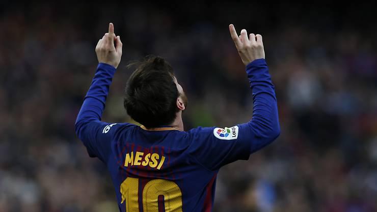 Lionel Messi schoss das einzige Tor gegen Atlético Madrid