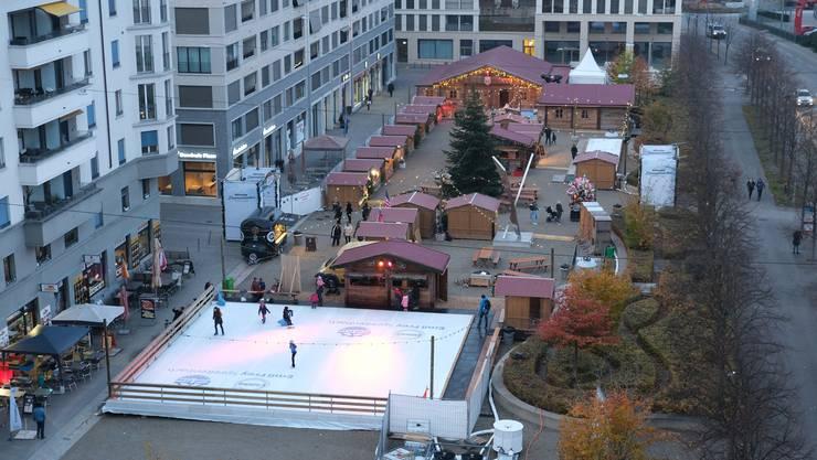 Der Event Limmatzauber auf dem Rapidplatz bei seiner Eröffnung.