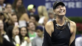 Maria Scharapowa nach ihrem Erstrundensieg gegen Simona Halep.