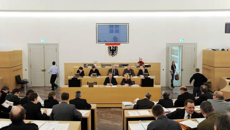 Der Aarauer Einwohnerrat an einer Sitzung.