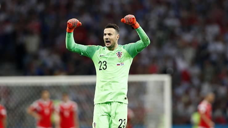 Danijel Subasic avancierte für Kroatien an der WM jeweils in den Penaltyschiessen zum Matchwinner