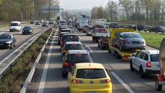 Der Kanton Solothurn: Ein Kanton von Pendlern und Autofahrern (im Bild: die A1 bei Luterbach).