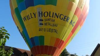 Am Sonntag war ideales Ballonflugwetter.