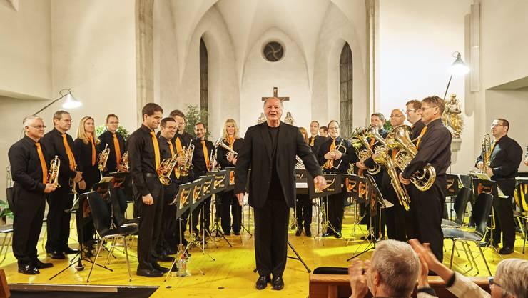 Dirigent Pascal Eicher wusste mit der Phoenix Brass zu überzeugen