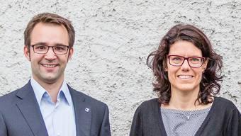 Sie möchten Stadtammann in Brugg werden: Titus Meier und Barbara Horlacher.