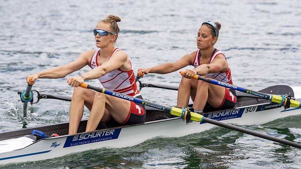 Patricia Merz (rechts) und Frédérique Rol müssen in Tokio für das Erreichen der Halbfinals den Umweg über den Hoffnungslauf rudern