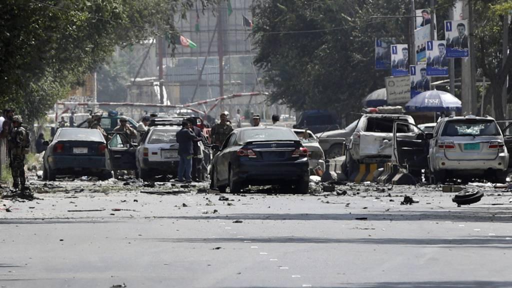Nato-Soldaten und Afghanen bei Taliban-Angriffswelle getötet