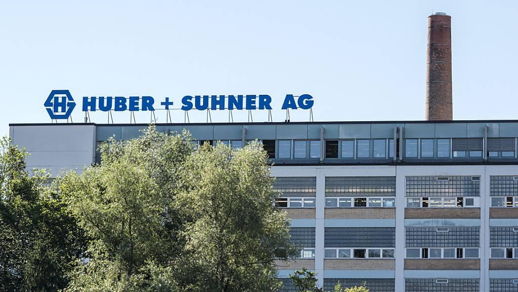 Gebäude der Firma Huber+Suhner in Herisau. (Archivbild)