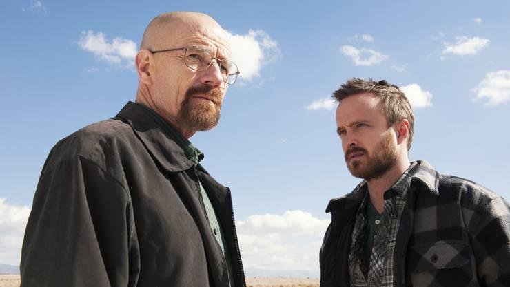 Walter White alias Heisenberg (Bryan Cranston) und Jesse Pinkman (Aaron Paul). (Szenenbild)