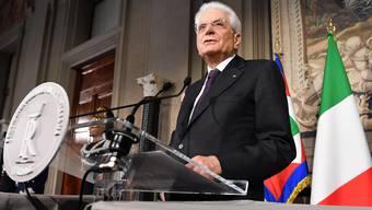 Sergio Mattarella, Staatspräsident von Italien.