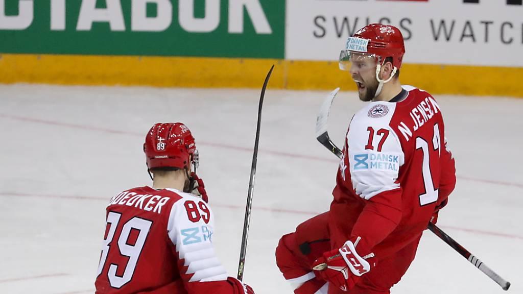Auf diese Dänen muss die Schweiz am Sonntagabend aufpassen: Nicklas Jensen (Nr. 17 - 3 Tore und 1 Assist gegen Schweden) und Mikkel Boedker, einer der dänischen NHL-Stars