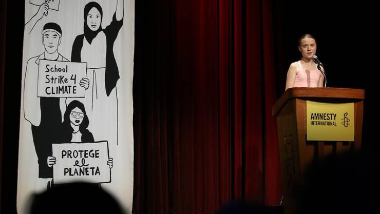 Greta Thunberg und die Protestbewegung Fridays For Future haben in Washington den Amnesty-Menschenrechtspreis erhalten.