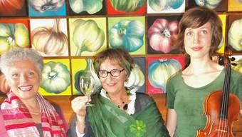 Von links: Cristina Moning, Elisabeth Schmidiger und Laura Schuler.