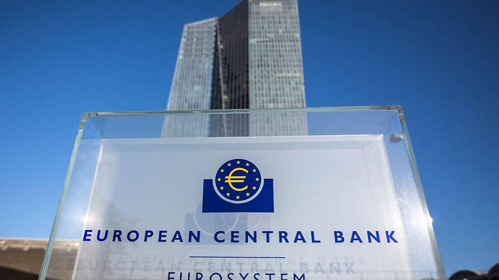 Die EZB belässt den Leitzins bei rekordtiefen 0,0 Prozent. (Archivbild)